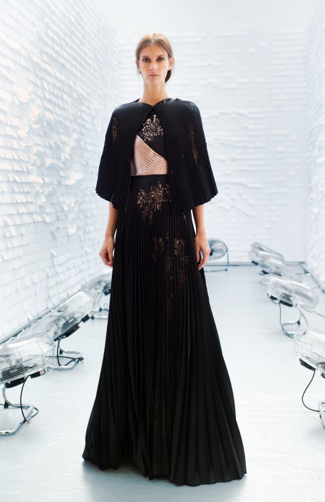 GEORGIA HARDINGE SS16 - BLACK LONG DRESS WITH PLEATS